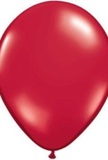 "11"" Ruby Red Qualatex Balloon 1 Dozen Flat 1 Dozen Flat"