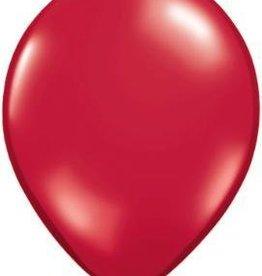 "11"" Ruby Red Qualatex Latex Balloon 1 Dozen Flat 1 Dozen Flat"