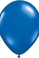 """11"""" Sapphire Blue Qualatex Balloon 1 Dozen Flat"""