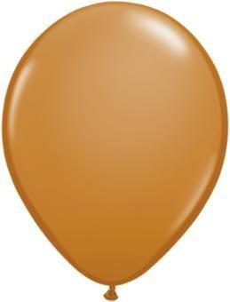 "11"" Mocha Brown Qualatex Balloon 1 Dozen Flat"