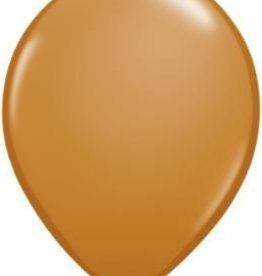 "11"" Mocha Brown Qualatex Latex Balloon 1 Dozen Flat"