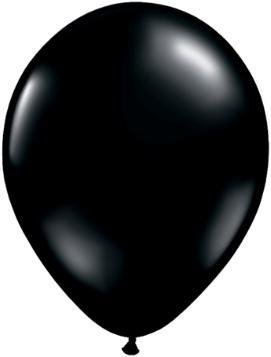 "11"" Onyx Black Qualatex Latex Balloon 1 Dozen Flat"