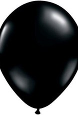 "11"" Onyx Black Qualatex Balloon 1 Dozen Flat"