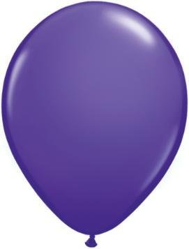 "11"" Purple Violet Qualatex Latex Balloon 1 Dozen Flat"
