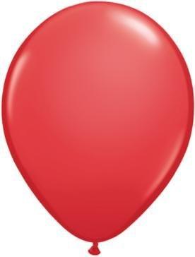 "11"" Red Qualatex Latex Balloon 1 Dozen Flat"
