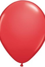 "11"" Red Qualatex Balloon 1 Dozen Flat"