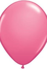 "11"" Rose Qualatex Balloon 1 Dozen Flat"