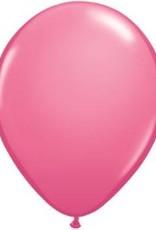 "11"" Rose Qualatex Latex Balloon 1 Dozen Flat"