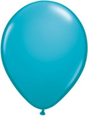 "11"" Tropical Teal Qualatex Latex Balloon 1 Dozen Flat"