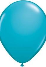 "11"" Tropical Teal Qualatex Latex Balloon 1 Dozen Flat"