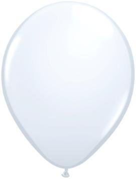 "11"" White Qualatex Balloon 1 Dozen Flat"