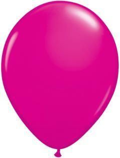 "11"" Wildberry Qualatex Latex Balloon 1 Dozen Flat"