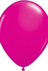 """11"""" Wildberry Qualatex Balloon 1 Dozen Flat"""