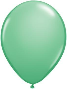 "11"" Winter Green Qualatex Balloon 1 Dozen Flat"