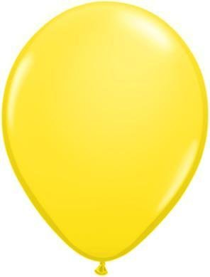 "11"" Yellow Qualatex Latex Balloon 1 Dozen Flat"