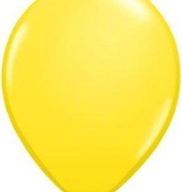 "11"" Yellow Qualatex Latex Balloon 1 Dozen Flat"