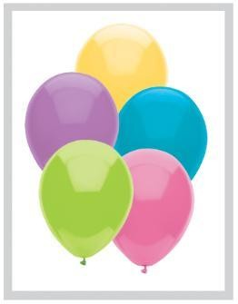 "11"" Pastel Assortment Partymate Balloons (100)"