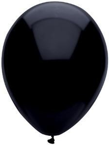 "11"" Pitch Black Partymate Balloons (100)"