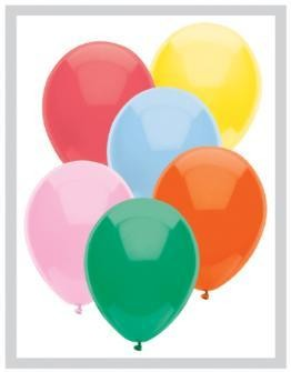 "11"" Standard Assortment Partymate Balloons (100)"