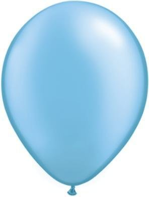 "11"" Pearl Azure Qualatex Balloon 1 Dozen Flat"