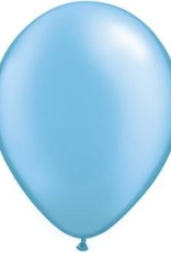 "11"" Pearl Azure Qualatex Latex Balloon 1 Dozen Flat"