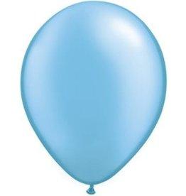 "11"" Pearl Azure Qualatex Latex Balloon 1 Dozen Flat"