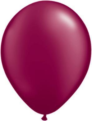 "11"" Pearl Burgundy Qualatex Latex Balloon 1 Dozen Flat"