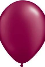 "11"" Pearl Burgundy Qualatex Balloon 1 Dozen Flat"