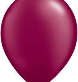 "11"" Pearl Burgundy Qualatex Latex Balloon 1 Dozen Flat"