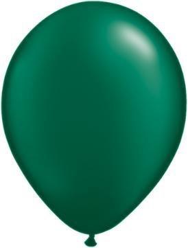 "11"" Pearl Forest Green Qualatex Balloon 1 Dozen Flat"