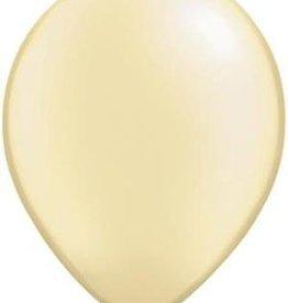 "11"" Pearl Ivory Qualatex Latex Balloon 1 Dozen Flat"