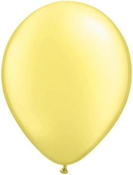 "11"" Pearl Lemon Chiffon Qualatex Balloon 1 Dozen Flat"