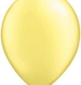 "11"" Pearl Lemon Chiffon Qualatex Balloon 1 Dozen Flat"