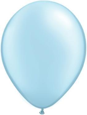 "11"" Pearl Light Blue Qualatex Latex Balloon 1 Dozen Flat"