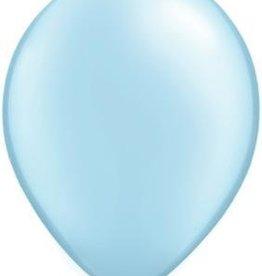 "11"" Pearl Light Blue Qualatex Balloon 1 Dozen Flat"