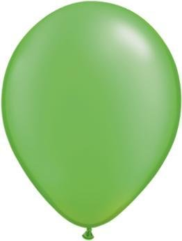 "11"" Pearl Lime Green Qualatex Balloon 1 Dozen Flat"
