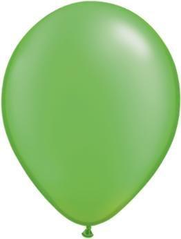 "11"" Pearl Lime Green Qualatex Latex Balloon 1 Dozen Flat"