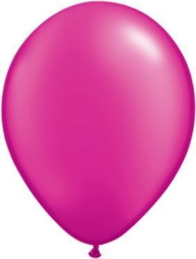 "11"" Pearl Magenta Qualatex Latex Balloon 1 Dozen Flat"