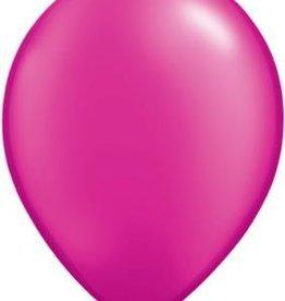 "11"" Pearl Magenta Qualatex Balloon 1 Dozen Flat"