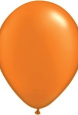 "11"" Pearl Mandarin Orange Qualatex Latex Balloon 1 Dozen Flat"