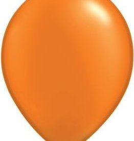 "11"" Pearl Mandarin Orange Qualatex Latex Balloon 1 Dozen Flat"