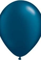 "11"" Pearl Midnight Blue Qualatex Balloon 1 Dozen Flat"