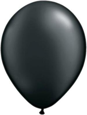 "11"" Pearl Onyx Black Qualatex Latex Balloon 1 Dozen Flat"