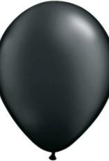 "11"" Pearl Onyx Black Qualatex Balloon 1 Dozen Flat"