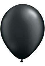 """11"""" Pearl Onyx Black Qualatex Latex Balloon 1 Dozen Flat"""