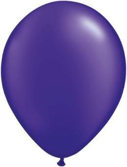"11"" Pearl Quartz Purple Qualatex Latex Balloon 1 Dozen Flat"