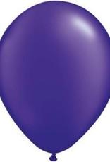 """11"""" Pearl Quartz Purple Qualatex Balloon 1 Dozen Flat"""