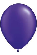 """11"""" Pearl Quartz Purple Qualatex Latex Balloon 1 Dozen Flat"""