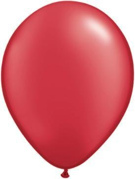 "11"" Pearl Ruby Red Qualatex Latex Balloon 1 Dozen Flat"