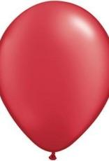 "11"" Pearl Ruby Red Qualatex Balloon 1 Dozen Flat"